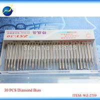 New 30Pcs Diamond Mounted Point Set Electric Micromotor Drill Bits Diamond Tools Kits Shank 3/32