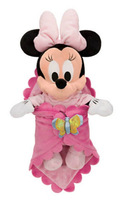 Mickey Minnie Mouse Toys Babies Plush Baby Minnie Mouse Pink Butterfly Swaddle Blanket stuffed animals kids toys dolls for girls