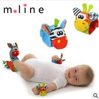 Free shipping, NEW STYLE (4pcs=2 pcs waist+2 pcs socks)/lot,baby rattle toys Sozzy Garden Bug Wrist Rattle and Foot Socks