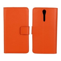 2014 New PU Wallet Leather Case For Sony Xperia S Lt26i Arc HD Phone Cases with Stand Function & Card Holder