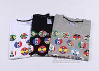 New Arrival 2014 hot sale fashion brand t-shirt men shirt world cup sports tshirt mens t shirts plus size free shipping