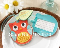 "Factory directly sale   NEW ARRIVAL  Free shipping 100pcs/lot  Wedding favor  ""Owl"" Be Seeing You"" Owl Luggage Tag + Baby shower"