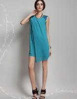 New 2014 Ladies  Chiffon Sexy Dress  Fashion Maxi Mint  Summer Sleeveless Dress Casual Brand Dresses asymmetrical dresses