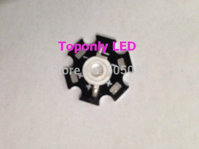 2014 High Quality powerful led 5w uv diode light with pcb wavelength 395-410nm for medical using DC3.2-3.4v 280pcs/lot wholesale(China (Mainland))