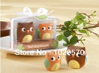Wedding favors and gifts Baby shower  Owl Always Love You Ceramic Salt and Pepper Shaker  Free shipping  200pcs=100sets/lot