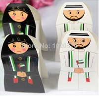 New arrival 100pcs/lot UAE Wedding Box Party Arab Candy Box Favor Gift Boxes Arabic Packaging Chocolate Box  Free shipping