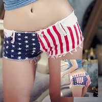 Hot Pants Jean Short Shorts Denim Daisy Dukes Sexy Girls Low Waist American Flag