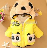 Free shipping NEW!retail,baby boy jacket 1pcs/1lot boy clothing striped children's winter outerwear,fashion bear coat