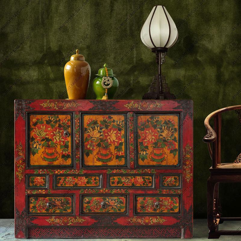 Online kopen wholesale tibetaanse meubels uit china tibetaanse meubels groothandel - Ingang kast ...