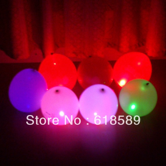 Free Shipping 100pcs/Lot 12 Inch Wholesale Led Ballons Glow In The Dark Party Supplies Blink And Color Changing Balloons(China (Mainland))