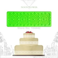 Noon flower silicone Cake lace mould fondant cake molds cake decorating tools silicone molds kitchen accessories