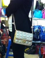 free shipping 2014 d women handbag bag pearl chain plaid mini women's handbag one shoulder cross-body small bags