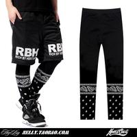 New 2014 hip hop legging pants hiphop harajuku fashion sport leggings black leggings for women and men leggings fitnessBF-47