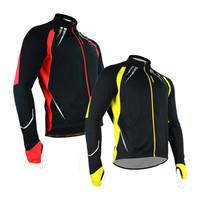 SANTIC Men's New Fleece Windproof Thermal Winter Cycling Jacket Casual Bicycle Coat Outdoor Bike Jersey 2 Color