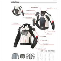 Free Shipping JAPAN KOMINE JK015 high-performance drop resistance clothing racing suits motorcycle jacket WHITE BLACK