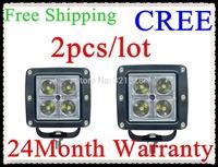 2pcs/lot  16w led pods LED light bar led work light  for Off road,side by side ,4*4,ATV,UTV,buck led Free shipping