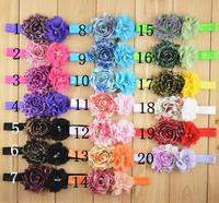 2014 wholesale leopard print shabby flowers pearl rhinestone DIY flowers for headbands baby girls girls accessories 100pcs/lot