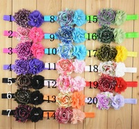 2014 wholesale leopard print shabby flowers pearl rhinestone DIY flowers for headbands baby girls girls accessories 100pcs/lot