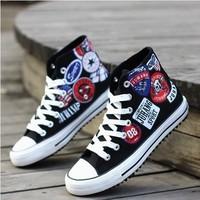 fashion  canvas shoes men male casual shoes sports  high-top shoes hiphop hip-hop shoes