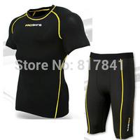 PRO SKINS Cycling jersey High elasticity Short sleeve Tights Compression clothing Running Jogging Marathon clothing Shorts