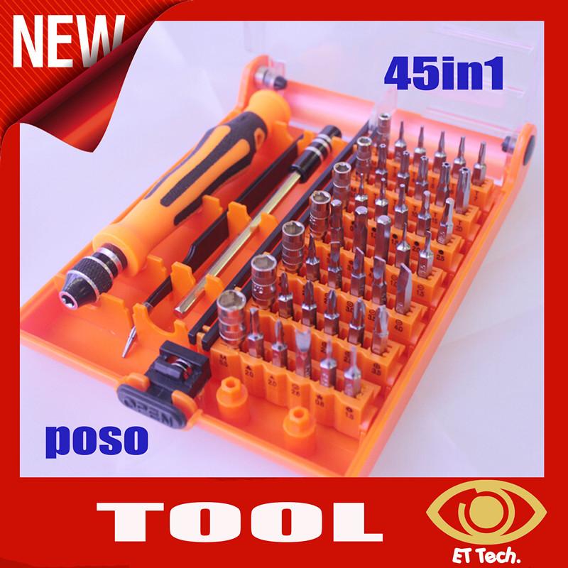 ORIGINAL 100% NEW 45 in 1 Multi-Bit Tools Repair Torx Screw Driver Screwdrivers Kit Set for Electronic for iphone htc pc Laptop(China (Mainland))