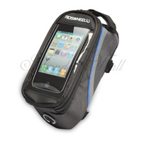 """ROSWHEEL Bicycle Frame Pannier Front Tube Cell Phone Bag Pouch 5.5"""" Blue"""