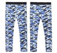 New 2014 Men hip hop leggings pants Harajuku sports pants Fashion Blue camouflage leggings Street dance BF-29