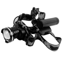 Head Light Lamp1600Lm 18650 CREE XML T6 LED Adjustable Headlamp Rechargeable Head Lamp+Charger Adapter TK0363  3F