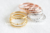 Fashion Little Thick Hammered Stackable Rings Bridesmaid Gift Wedding Rings jewelry color gold/silver/rose gold
