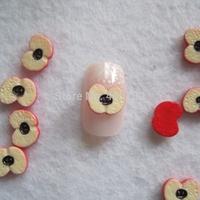 RC-185-4 200pcs/bag Cute Decoration Resin Apple Resin Decoration Nail Art Decorations