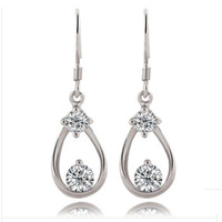 Popular Earring,Latest Earrings Jewels,925 Sterling Silver on Platinum Plated,AAA Grade Crystal Jewelry OE63