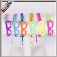 Wholesales Neon Color Shamballa  Friendship Glasses Rope Bracelets mix color