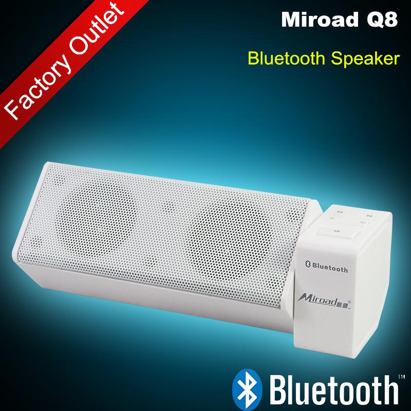 Hot Sale Q8 wireless bluetooth speaker TF Card FM Radio Double Trumpets handsfree speakphone for iPhone Samsung Nokia Sony Phone(China (Mainland))