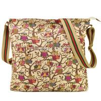 5 Colors New Arrival Fashion Shoulder Bags Women Handbag Owl Printing Casual Bag Free Shipping QQ1688