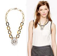 2014 New Brand Designer Fashion Trendy Pendant Necklaces Bohemia Style Glass Crystal Tortoise