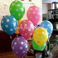 12pcs 12 inch Mixed colors Helium Inflatable Latex Balloons Polka Dot Pearl Balloon Birthday Wedding Festival Classic Toys