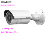 HIKVISION DS-2CD2632F-IS 3.0MP Verifocal IR Bullet Network IP Camera 2.8-12mm Support PoE