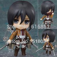 """Free Shipping Nendoroid 4"""" Q version Attack on Titan Mikasa Ackerman PVC Mini Action Figure Toy Doll #365"""