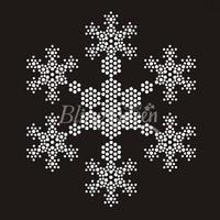 25PCS/LOT Snowflake Rhinestone Bling Transfers Hot Fix Iron On Motifs