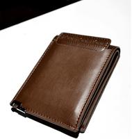 Brand men's wallets short Leather Wallet Purse New Leather folding money. Unique design
