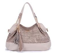 2014 Casual    Paillette Desigual Brand Leather Tassel Women Handbag Sequined Shoulder Bags Women Messenger Bags Tote