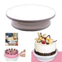 2014 Hot 1pcs Revolving Cake Sugarcraft Turntable, cake swivel plate,  Decoration Stand Platform turntable Baking tools 870264