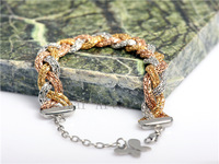 Sexy Fashion Style Vintage Metal Silver Gold Bling Scale Bracelet Girls/Womens Link Chain Metal Jewelry