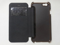 Fresh Series Flip PU Leather Case Open Window Cover For Iphone 6
