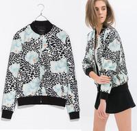 New Women Summer Printed Sport Jacket Coat Women's Long Sleeve Zipper Outerwear Ladies Coats Jackets casaco jaqueta feminina