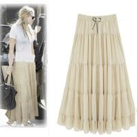 Women's Clothing Summer Fashion Bohemia Plus Size 3XL 4XL Longa Saias Femininas Chiffon Womens Skirts Long Women Skirt