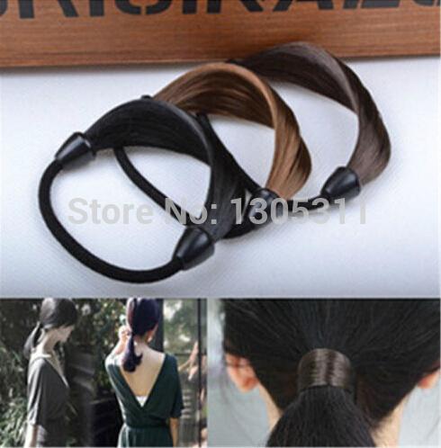 New Fashion Synthetic wig hair rope Braid hairpeice Ponytail Elastic Hair Rope/Holers Hairband One pcs free shipping(China (Mainland))