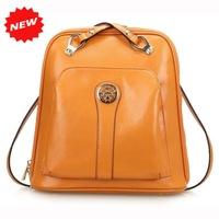 2015 Newest Women Backpack college style fashion leather backpack schoolbag shoulder bag for Travelling 5 Colors, Q0460