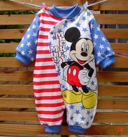NEW 2014 leotard  boyclothes baby rompers clothing set kid romper cartoon dot romper baby jumpsuit E99