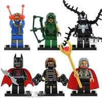 Wholesale Decool 60pcs Super Heroes Avengers Batman Winter Soldier Odin Cyclops Green Arrow action figures Building Blocks toys